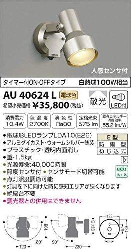 AU40624L 電球色LED人感センサ付ウトドアスポットライト B01GCAXPXU