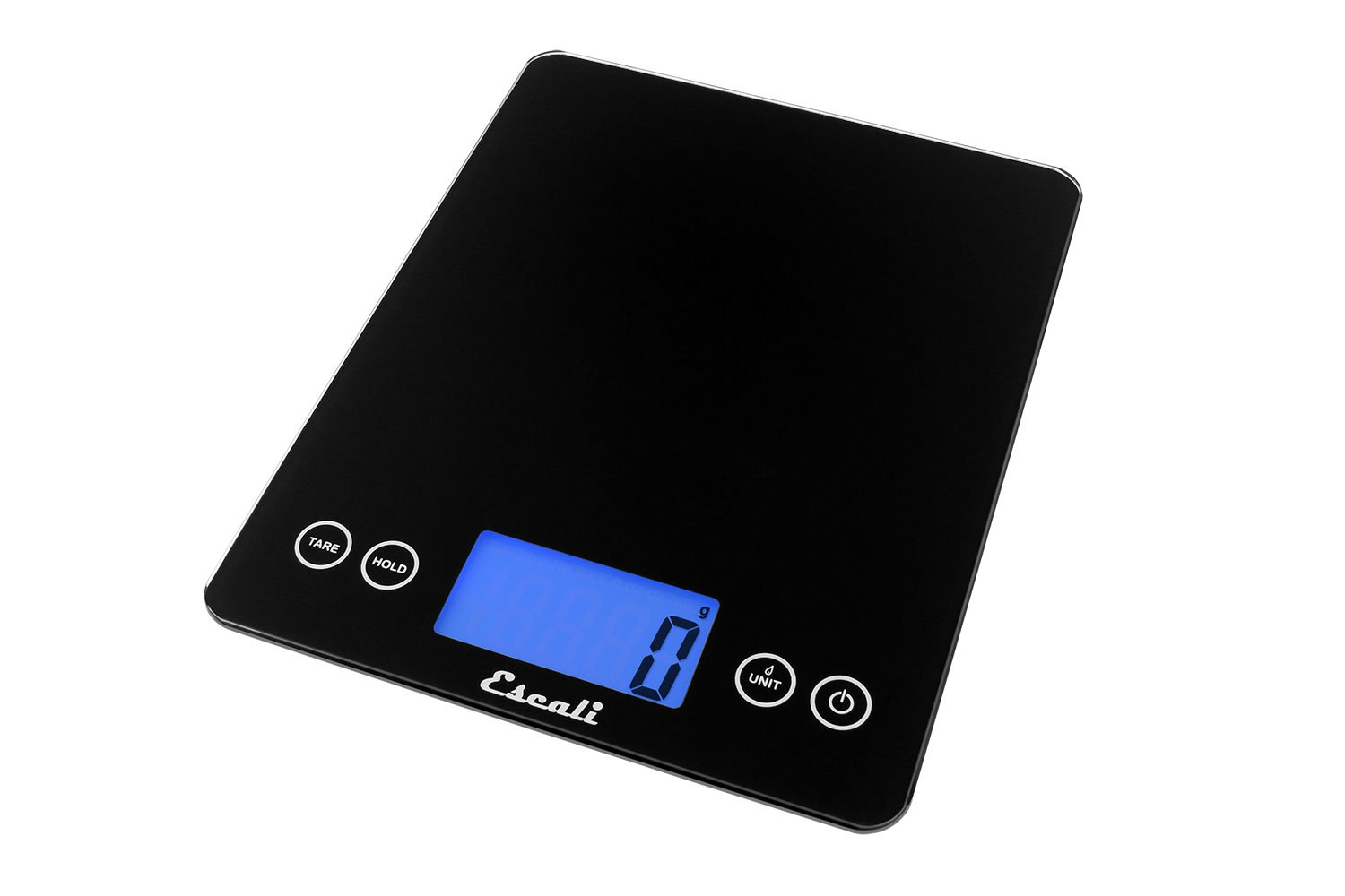 Escali ArtiXL 2210IB Precision Extra-Large Glass Surface Kitchen Scale, Measures Liquid and Dry Ingredients, Tare Function, Digital LCD Display,  22lb Capacity, Black by Escali