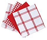 T-fal Cotton Dish Cloth, 4 Pack, Red