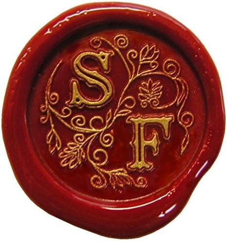 Siegelset in Geschenkdose Eine tolle Geschenkidee um etwas pers/önliches zu schenken 24 mm Schriftart Baroc 2 Initialen