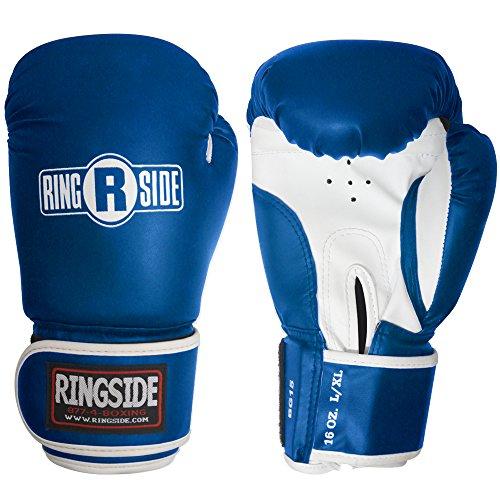 Ringside Striker Training Gloves, Blue/White, Small/Medium