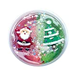 Cyhulu Christmas Slime Putty, Xmas Tree Snowman Santa Claus Elk Clay Fun Toys, Party Birthday Favors for Kids Best Christmas Stress Relief Gifts (Red Green, One size)