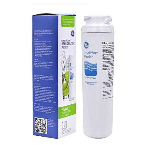 GE SmartWater Refrigerator Water Filter MSWF Replacement Cartridge,101820A, 101821B, 101821-B, Advanced,Pack of 1