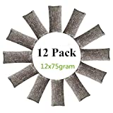 12 Packs Natural Air Purifying Bags ,150g Each Pair Mini Bamboo Charcoal Bags ,Shoe Deodorizer and Odor Eliminator