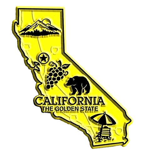 California the Golden State Map Fridge Magnet