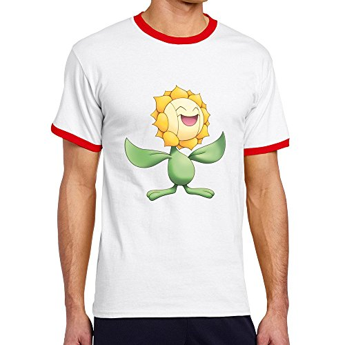 Sunflora Red Contrast Color T-shirt For Men - S