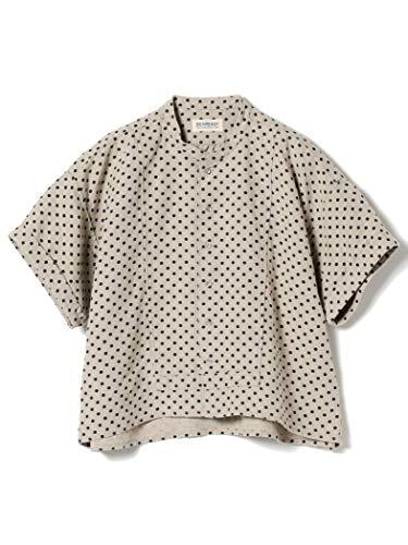 (빔스 보이)BEAMS BOY/반소매 셔츠/린넨 에이프런 교환 쇼트 슬리브 레이디스