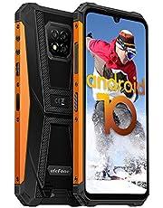 Ulefone Armor 8 mobiele telefoons waterdicht stofdicht valbestendig Android 10 AI Qcta-Core processor 4GB+64 B 6,1-inch scherm 16+8MP camera's (Marco-lens) Outdoor-smartphone zonder contract 5800 mAh-batterij, Oranje