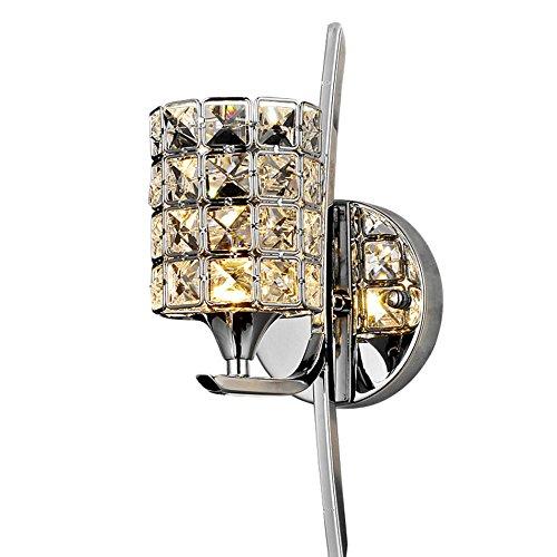 GYP LED Kristall Wand, kreatives Schlafzimmer Nachttisch Lampe Spiegel Vorderlicht Hotel Zimmer Hochzeit Zimmer Hochzeit Wand Single E14, 12  40cm ( Größe   1240cm )