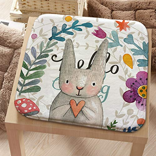- Meet Nice Flannel Seat Cushion Pad Patio Solid 4 Colors Paiting Garden Square Indoor Dining on Office Chair Foam