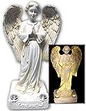Beautiful Praying Solar Angel Statue With 2 Yellow LED Solar Angel Lights