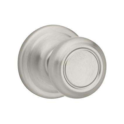 Kwikset Cameron Hall/Closet Knob in Satin Nickel - Doorknobs ...