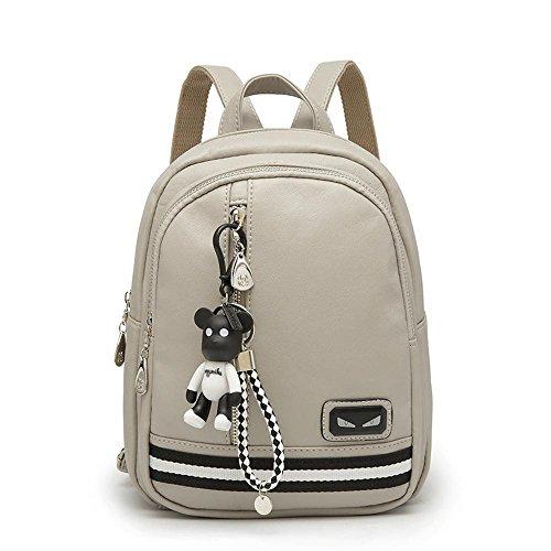 Aoligei Double sac à bandoulière fashion bouche multi-bag sac à dos loisirs étudiant sac des femmes B