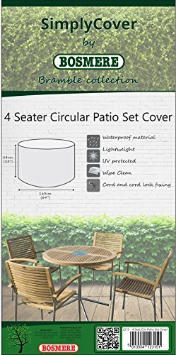 Garden Seater 4 (Simply Cover Bosmere 4 Seater Circular Patio Set Cover Bramble L325)