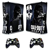 Designer Skin Sticker for Xbox 360 Slim Console + Two Wireless Controller Decals Call of Duty Ghost