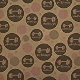 Pink Tough Barbell Cancer Logo Premium Kraft Gift Wrap Wrapping Paper Roll