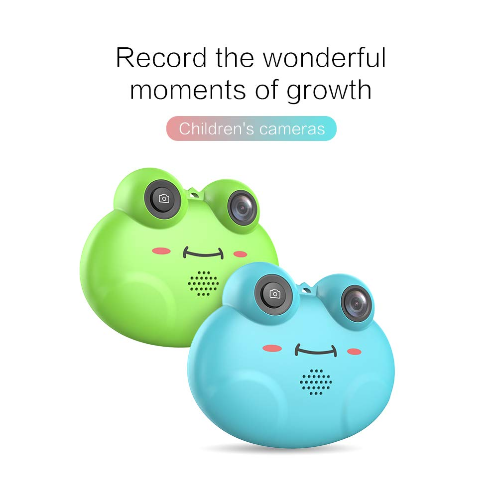 RONSHIN Kids Camera, Cute Cartoon Frog Shaped Digital Camera Portable Anti-Shake Rechargeable Kids Camera for Girls Boy Blue by RONSHIN