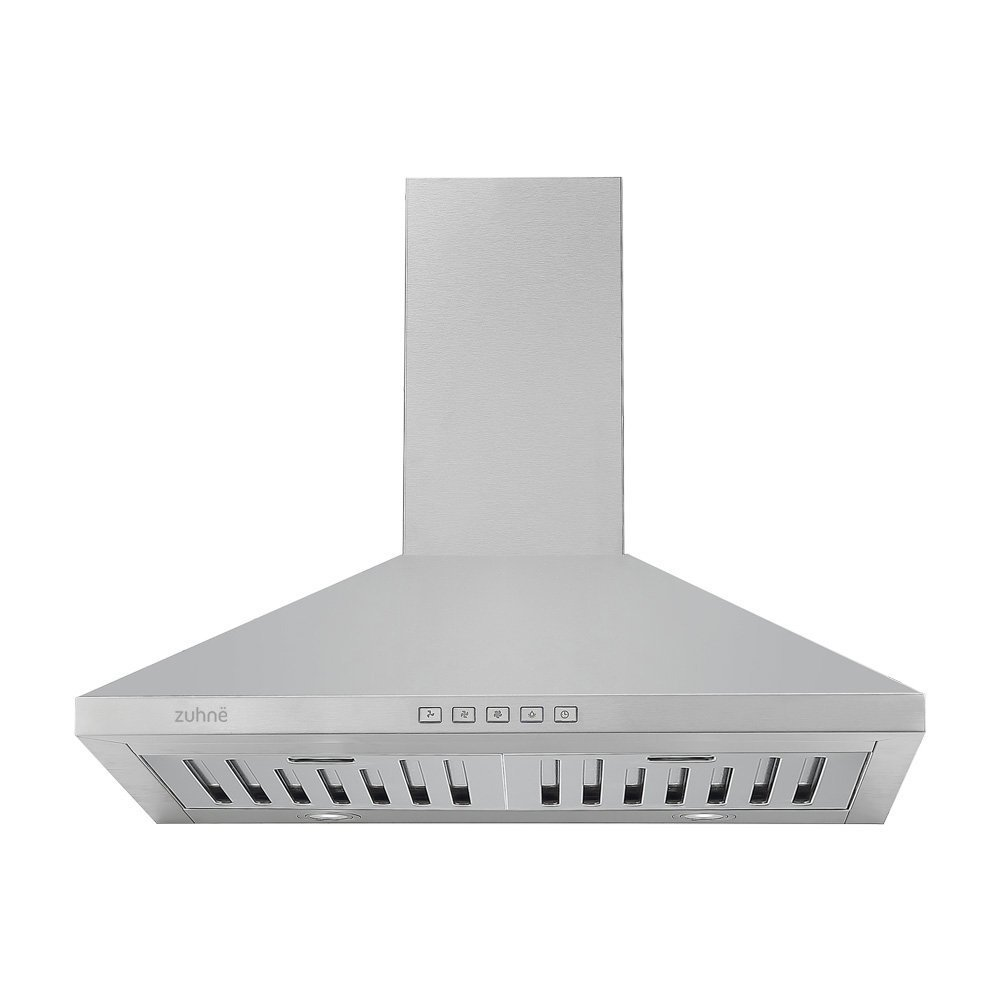 Zuhne Ventus 30 inch Range Hood With Chimney Extension for 9' - 11' Feet Ceiling Ventus30-Plus