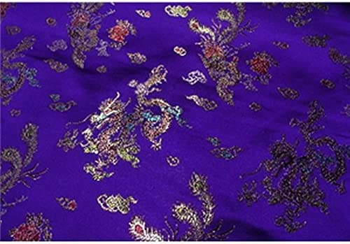 "3 MTR Azul//Purple Floral Oriental Brocade Fabric. 60/"" De Ancho £ 17.99"