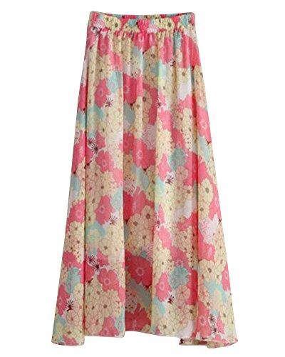 Longue Robe En Soie vase Jupe Bohme De Imprim Mousseline Floral Fluide Jhmh Femme dZRWHqPw