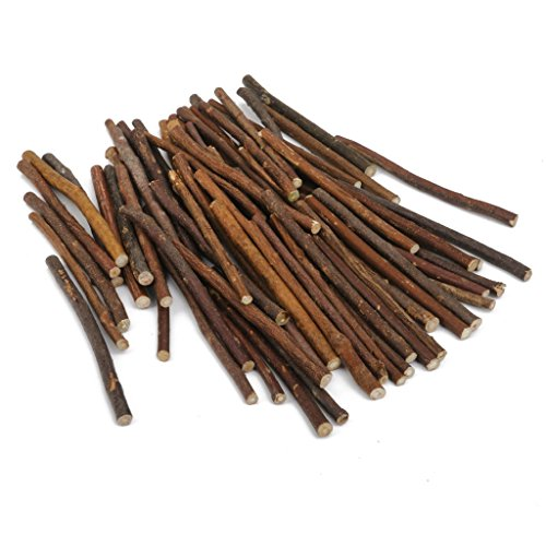 - 100pcs 5 Inch Long 0.1-0.2 Inch in Diameter Wood Log Sticks for Crafts Photo Props by HANBEN