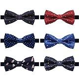 Kyпить AVANTMEN 6 PCS Adjustable Pre-tied Bow Tie Set for Men Ties in Gift Box Mixed Color Assorted Ties (Style M, 6 Pack) на Amazon.com