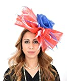 Hats By Cressida Gorgeous Ladies Ascot Kentucky Derby Wedding Fascinator Hat Red White & Royal Blue
