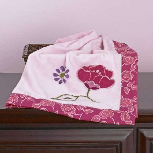 Orchid Grace Appliqued Sherpa Blanket - 30