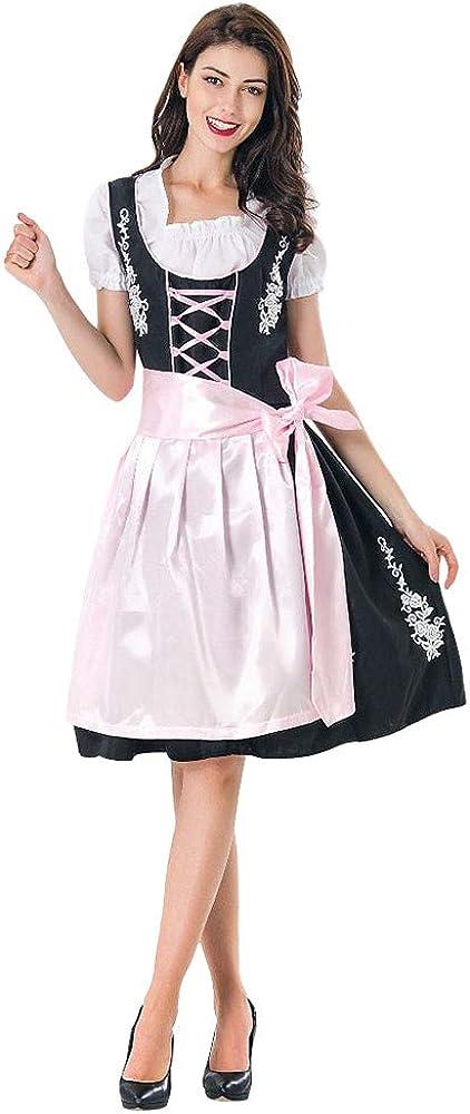Womens Oktoberfest Costume Bavarian Beer Girl Drindl Tavern Maid Dress
