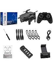 KF611 Drone 4k HD Camera Wide Angle 1080p WiFi FPV Drone Dual Camera Quadcopter Height Hold Drone Camera Toy 4k + Storage Bag