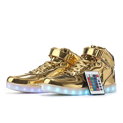 MaiDun LED Light Up Shoes High Top Sneakers With Remote Control For Womens  Mens Kids Codenames c36312f14