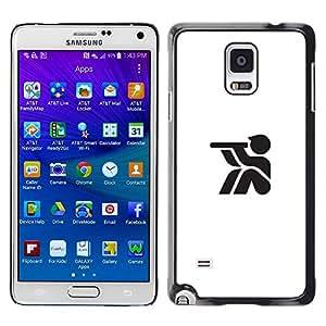 YOYOYO Smartphone Protección Defender Duro Negro Funda Imagen Diseño Carcasa Tapa Case Skin Cover Para Samsung Galaxy Note 4 SM-N910F SM-N910K SM-N910C SM-N910W8 SM-N910U SM-N910 - un telescopio de largo, buena mirada para sentarse