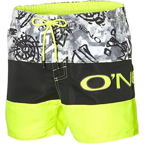 O'Neill Throwback Shorts Bañador, Hombre, Negro AOP, S