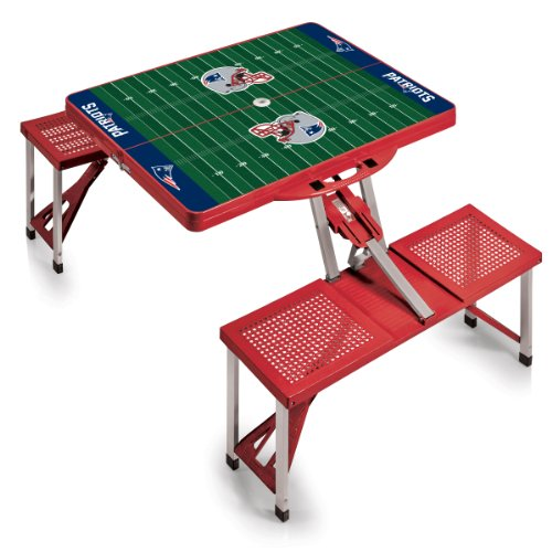 NFL New England Patriots Football Field Design Portable Folding Table/Seats, Red
