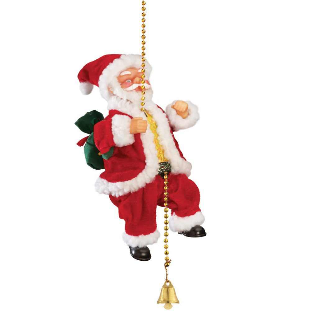 Amazon.com: Animated Musical Climbing Santa on Chain: Home & Kitchen