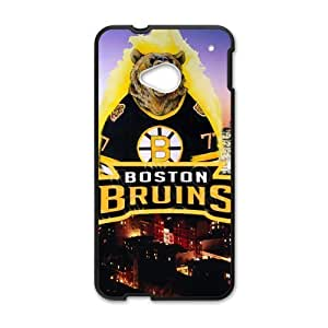 Roaring Bear Not Lose Boston Bruins Htc One M7 Case Shell Cover (Laser Technology)