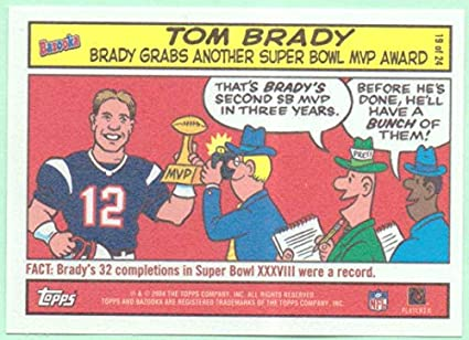 Tom Brady 2004 Topps Bazooka Comic 19 New England Patriots At