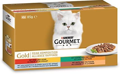Gourmet Gold, Gato Forro Fina Composición, Mix, pack de 12 (12 x ...