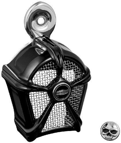 Kuryakyn Mach 2 Horn Cover - Gloss Black with Chrome Mesh XF-1-41-9462
