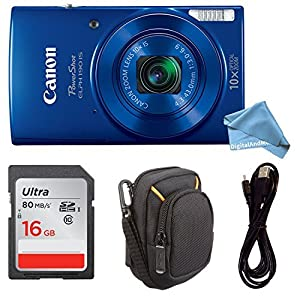 Canon PowerShot ELPH 190 Digital Camera COMPLETE BUNDLE w/ 10x Optical Zoom and Image Stabilization Wi-Fi & NFC Enabled + ELPH 190 Case + SD Card + USB Cable