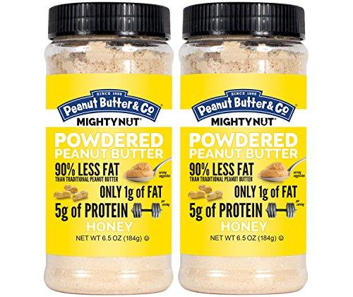 - Peanut Butter 2 Piece Mighty Nut Powdered Peanut Butter, Gluten Free, Honey, 6.5 Ounce Jars