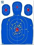 Big Dawg Targets - 18 X 24 Inch Blue Silhouette Reactive Splatter Target - 25 Pack