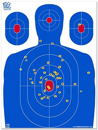Big Dawg Targets - 18 X 24 Inch Blue Silhouette Reactive Splatter Target - 10 Pack