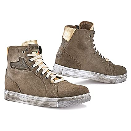 bf269a6ceb69f Amazon.com: TCX Street Ace Lady Taupe/Gold Motorcycle Boots 9430 42 ...