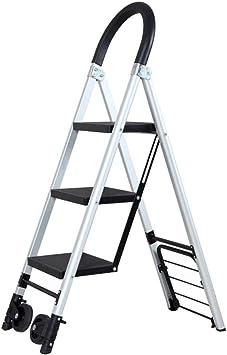 Multifuncional Escalera de polea, almacén Escalera muda Escalera de transporte familiar Escalera portátil de metal Tamaño 37 * 73.5 * 119 CM estable (Tamaño : 37 * 73.5 * 119CM): Amazon.es: Bricolaje y herramientas