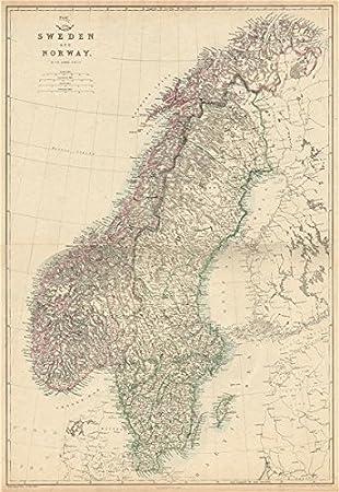 SCANDINAVIAShows Early Railways Inc OsloEidsvollNorway Sweden - Norway map amazon