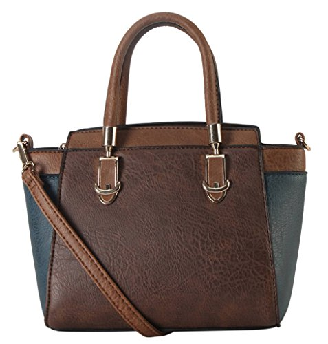 diophy-pu-leather-two-tone-mini-top-handle-tote-womens-purse-handbag-accented-with-removable-strap-s