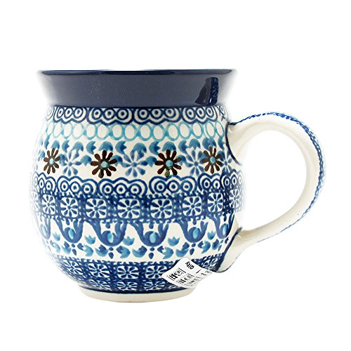 Polish Pottery Handmade 10 oz. Bubble Mug 070-Ice Jewels]()