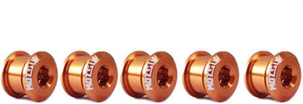 /écrous de manivelle de v/élo VTT alliage daluminium vis de fixation pour manivelle vis de fixation Lot de 5 vis pour plateau de v/élo