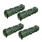 ALEKO 94'' X 39'' Faux Ivy Privacy Artificial Fence Screen Hedge Wall or Fencing Outdoor Decoration, Lot of 4